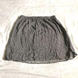 H&M Black & White Floral mini skirt